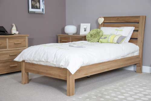 Homestyle Trend Solid Oak Slatted Single Bed
