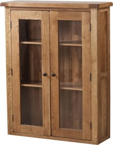 Country Rustic Glass Door Dresser (Top Only) | Fully Assembled