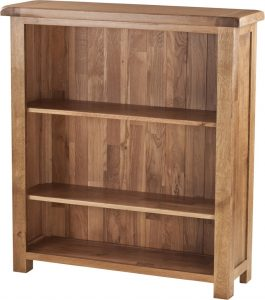 Country Rustic Oak 3′ Wide Bookcase with 2 Adjustable Shelves | Fully Assembled