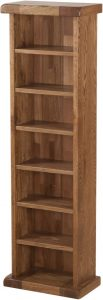 Country Rustic Oak CD Rack | Fully Assembled