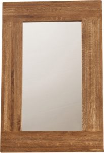 Country Rustic Oak Wall Mirror 900×600  | Fully Assembled