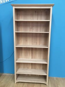 Solid Oak Large Bookcase – One Only To Clear | Fully Assembled