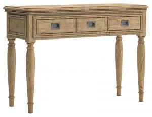 Versailles French Oak 3 Drawer Dressing Table