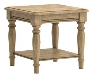 Versailles French Oak Lamp Table With Shelf