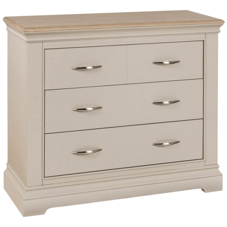 Cobble Painted 2+2 Chest of Drawers | Fully Assembled