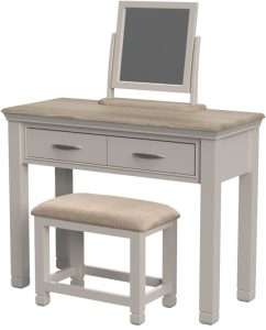 Cobble Light Mid Grey Painted Dressing Table Only | Fully Assembled