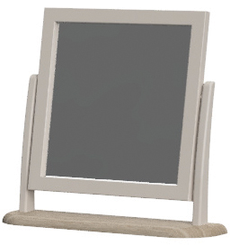 Cobble Light Mid Grey Painted Dressing Table Mirror | Fully Assembled