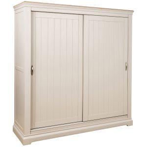 Cobble  Painted Sliding Door Double Wardrobe