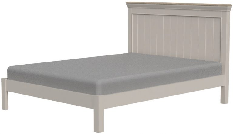 Cobble Light Mid Grey Painted King Size Bed