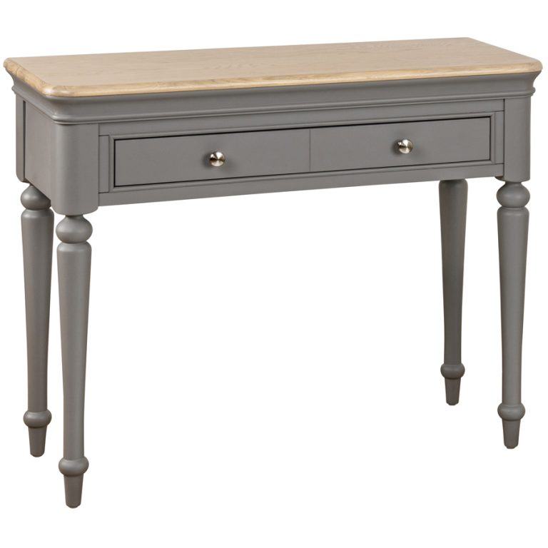 Pebble Painted Dressing Table (Only) Slate Grey   Fully Assembled