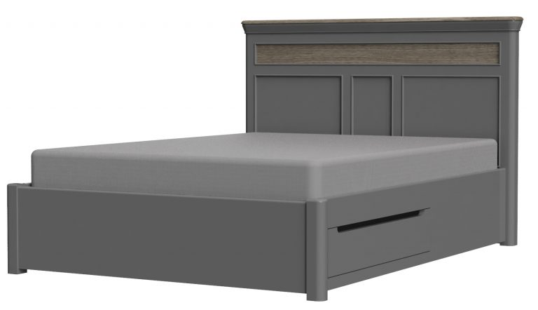 Pebble Painted King Size Bed Slate Grey