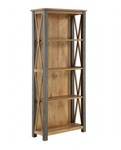 Urban Elegance Reclaimed Tall Bookcase | Fully Assembled