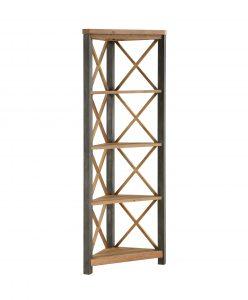 Urban Elegance Reclaimed Large Corner Bookcase | Fully Assembled