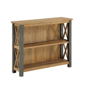 Urban Elegance Reclaimed Low Bookcase | Fully Assembled