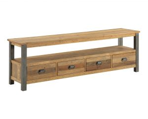 Urban Elegance Reclaimed Extra Large Widescreen TV Cabinet | Fully Assembled