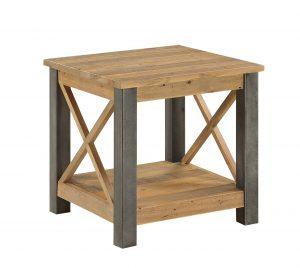 Urban Elegance Reclaimed Lamp Table | Fully Assembled