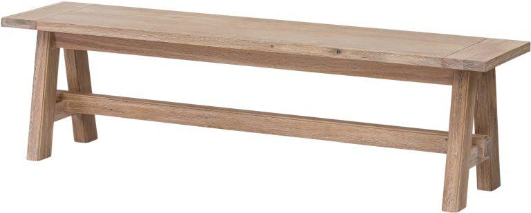 Richmond Light Oak Bench   Fully Assembled
