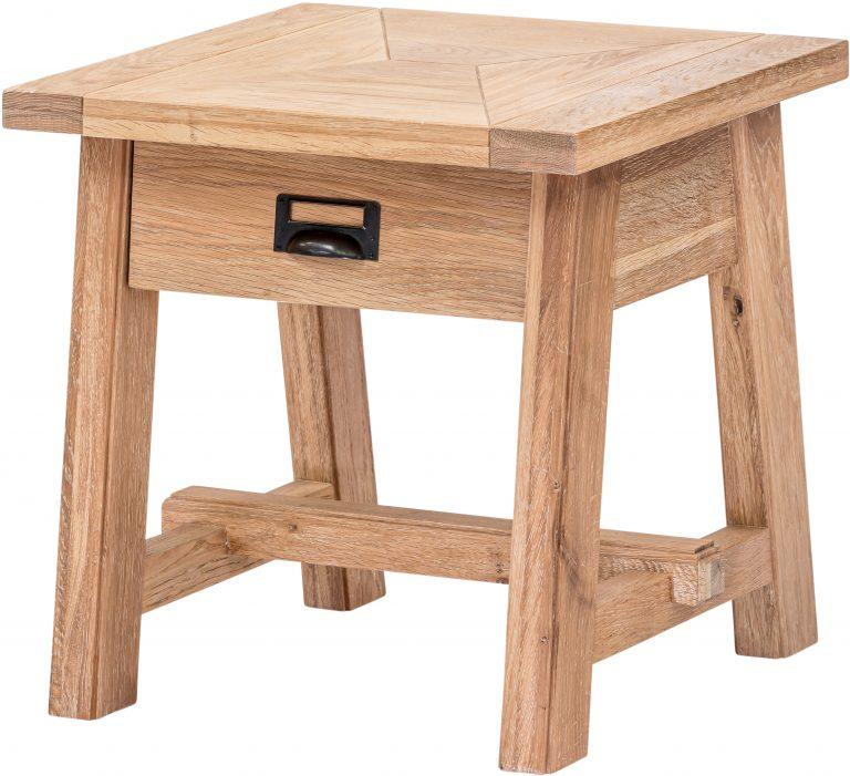 Richmond Light Oak Side Table  | Fully Assembled