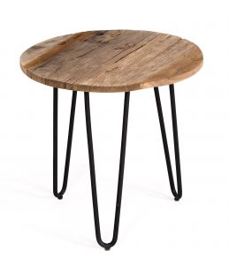 Cosgrove Tall Reclaimed Wood & Metal Side table