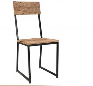 Cosgrove Reclaimed Wood Dining Chair With Metal Frame (Pair)
