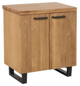Classic Fusion Industrial Oak 2 Door Storage Cabinet