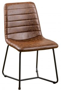 Devonshire Soft Faux Leather Dining Chair in Tan (Pair)
