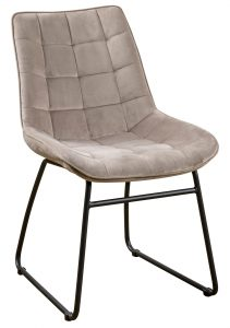 Devonshire Soft Touch Square Stitched Dining Chair Mink (Pair)