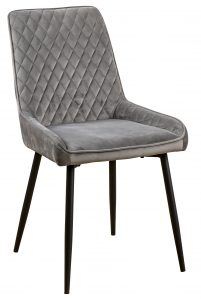Devonshire Soft Touch Diamond Back Dining Chair Grey (Pair)