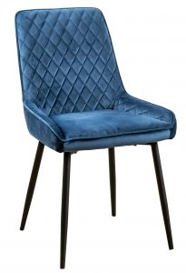 Devonshire Soft Touch Diamond Back Dining Chair Blue  (Pair)
