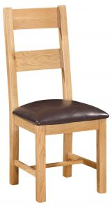 Devonshire Dorset Oak Ladder Back Dining Chair (Pair) | Fully Assembled