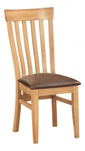 Devonshire Dorset Oak Toulouse Dining Chair (Pair) | Fully Assembled