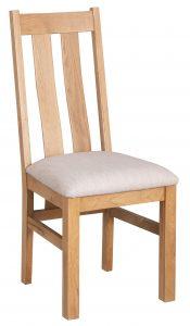 Devonshire Dorset Oak Arizona Chair Ivory Seat Pad (Pair) | Fully Assembled