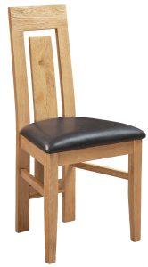 Devonshire Dorset Oak Panel Back Dining Chair (Pair) | Fully Assembled