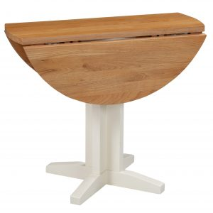 Devonshire Dorset Painted Ivory Small Drop Leaf Dining Table