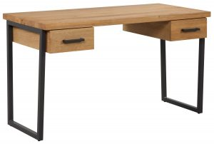 Classic Fusion Industrial Oak 2 Drawer Desk