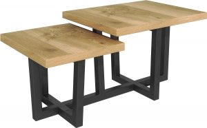 Classic Fusion Industrial Oak Step Coffee Table