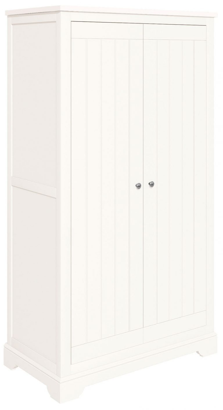 Classic Lily Painted White Ladies 2 Door Double Wardrobe
