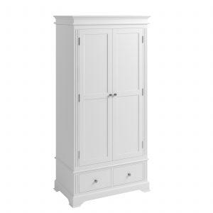 Windermere White Painted 2 Drawer Wardrobe