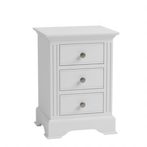 Windermere White Painted Large 3 Drawer Bedside| Fully Assembled