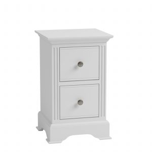 Windermere White Painted Small 2 Drawer Bedside| Fully Assembled