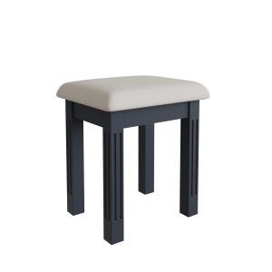 Windermere Midnight Grey Painted Dressing Table Stool