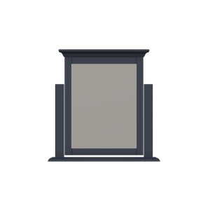 Windermere Midnight Grey Painted Dressing Table Mirror