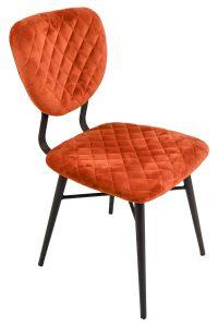 Ranger Dining Chair – Copper Velvet (Pair)