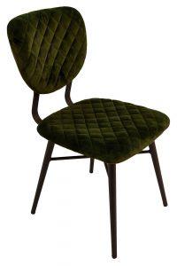 Ranger Dining Chair – Forest Green Velvet (Pair)