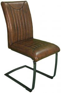 Industrial Dining Chair-retro stitch-vintage-vintage frame (Pair)