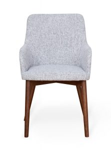 Walnut Light Grey Dining Chair (Pack of two)