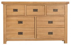 Chester Oak 3 Over 4 Chest of Drawers