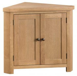 Chester Oak Corner Cabinet