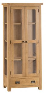 Chester Oak Display Cabinet