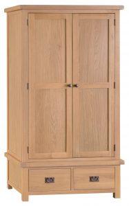 Chester Oak 2 Door 2 Drawer Wardrobe